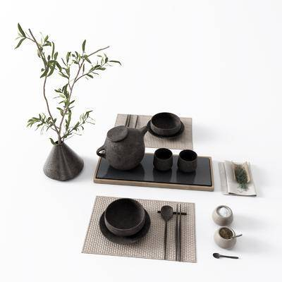 茶壶, 茶具组合, 花瓶