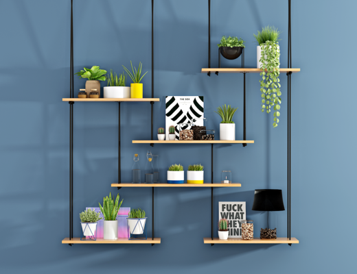 现代吊兰绿植, 盆栽, 装饰架, 植物, 花草