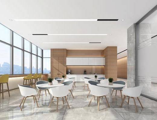 餐桌, 餐椅, 休闲椅, 摆件, 装饰柜, 现代
