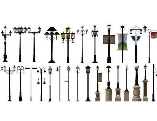 路灯, 灯具, 景观灯