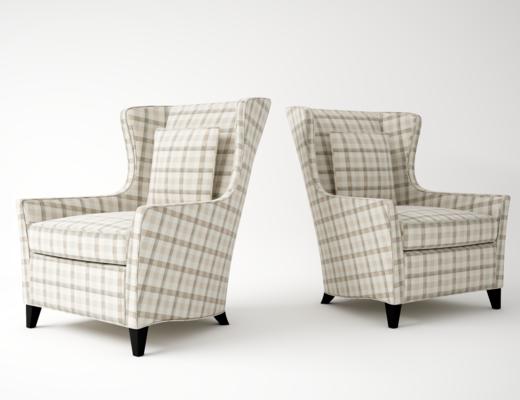 单人椅, 单人沙发, 美式