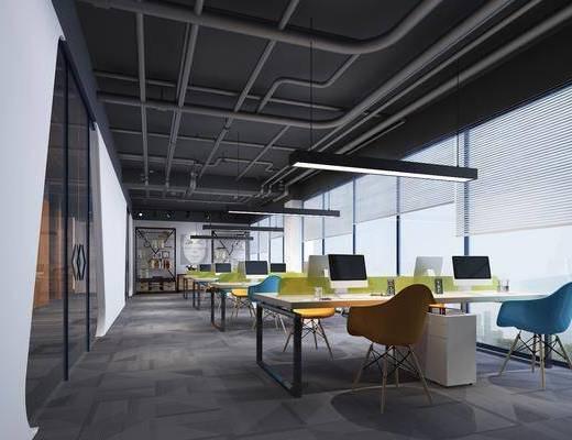 办公区, 办公室, 办公桌椅