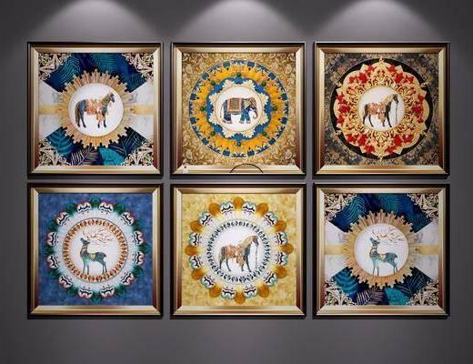 中式装饰挂画, 中式, 挂画, 装饰画