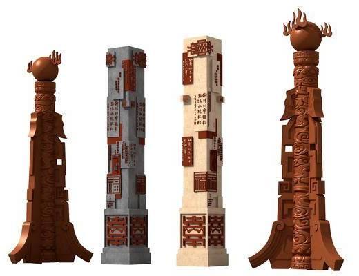雕塑, 雕刻, 石柱子