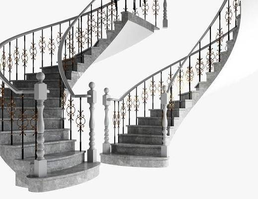 美式, 轻奢, 旋转楼梯, 组合