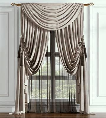 窗帘, 欧式