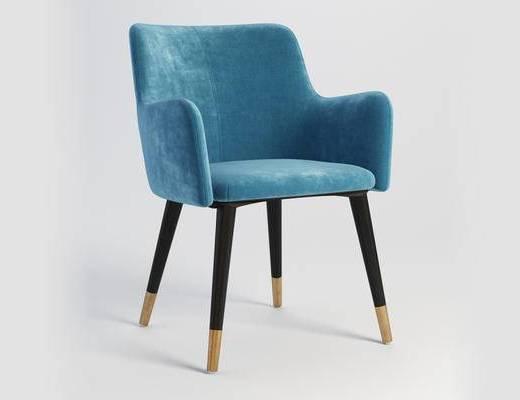 北欧简约, 靠背沙发, 单人沙发, 北欧沙发, 椅子, 下得乐3888套模型合辑