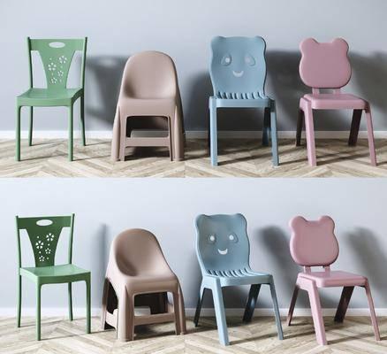 矮凳组合, 塑料椅, 矮凳