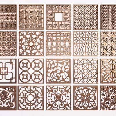 花格镂花, 花雕, 花窗, 新中式, 双十一