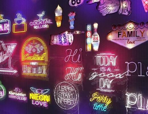 霓虹灯, 氛围灯, 现代