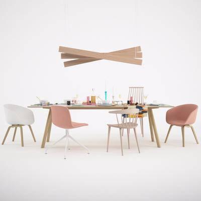 北歐餐桌, 餐桌, 桌椅組合