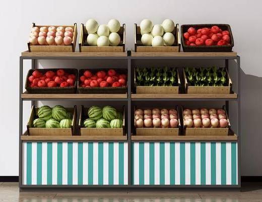 水果筐, 水果摊, 苹果, 西瓜, 西红柿, 水果篮