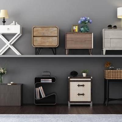 电视柜, 边柜, 边几, 床头柜