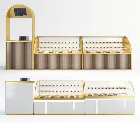 现代, 蛋糕柜, 柜架