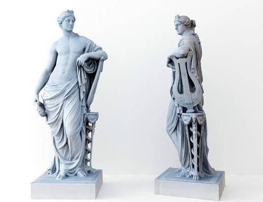 人物雕塑, 雕塑雕刻, 现代