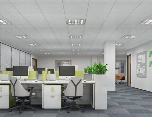 办公桌, 茶水间, 桌椅组合, 墙饰, 橱柜组合