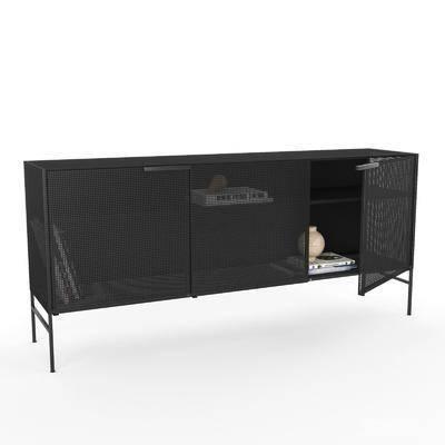现代电视柜, 电视柜, 边柜