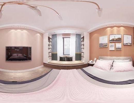 北歐臥室, 臥室, 雙人床