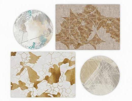 地毯组合, 造型地毯, 现代