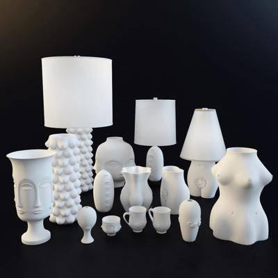 陈设品, 台灯, 摆件, 雕塑