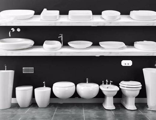 洗手盆, 洁具, 马桶, 洗浴组合
