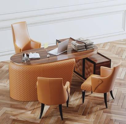 办公桌, 摆件组合, 桌椅组合