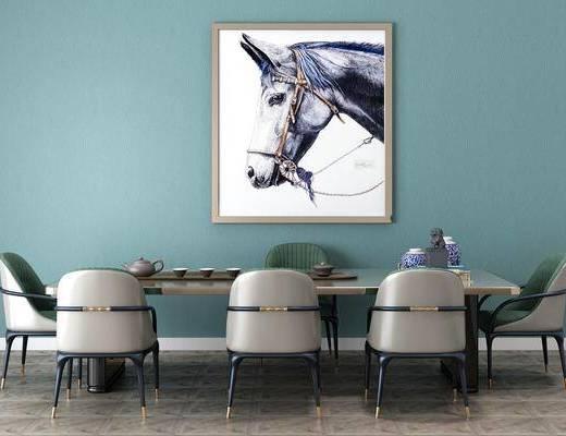 餐桌, 桌椅组合, 装饰画