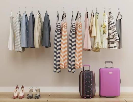 上衣衣服, 外套女装, 连衣裙, 行李箱, 服装鞋帽, 现代