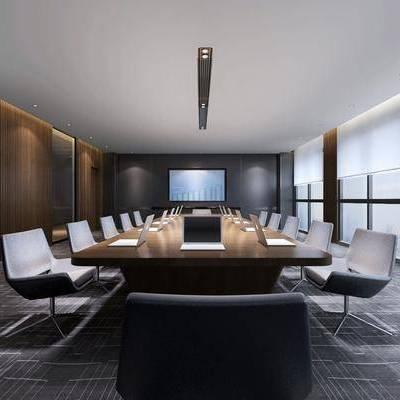 现代会议室, 现代, 会议室, 会议桌, 椅子
