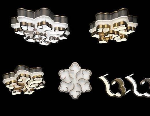 祥云吊灯, 吸顶灯, 金属吸顶灯, 现代