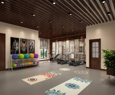 新中式, 健身房, 工装
