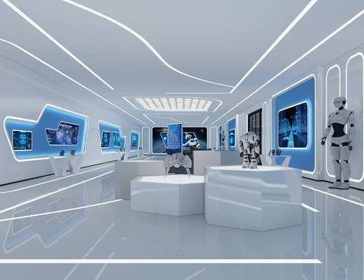 展览展厅, 智能机器人, 现代