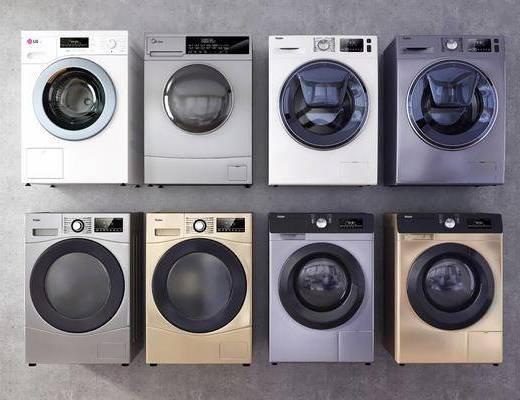 现代, 洗衣机, 烘干机, 单体
