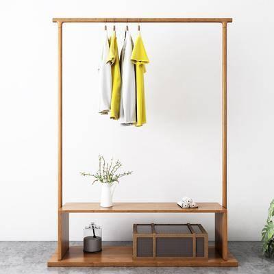 衣架, 衣柜, 摆件组合, 现代衣架