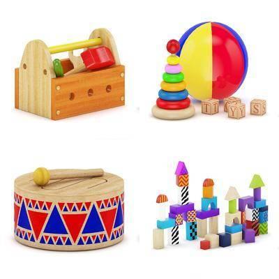 儿童玩具, 积木, 现代