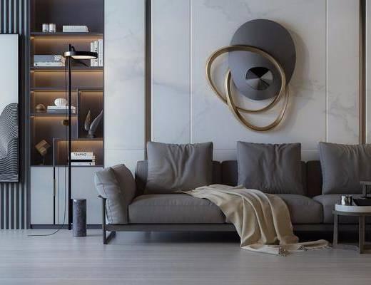 沙發組合, 沙發茶幾組合, 裝飾柜組合, 墻飾組合, 掛畫, 擺件組合, 現代