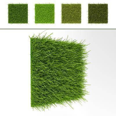 现代草地草坪背景墙组合, 植物墙, 现代, 草坪, 植物