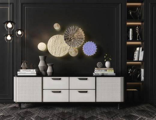 电视柜, 墙饰, 摆件组合, 柜架组合