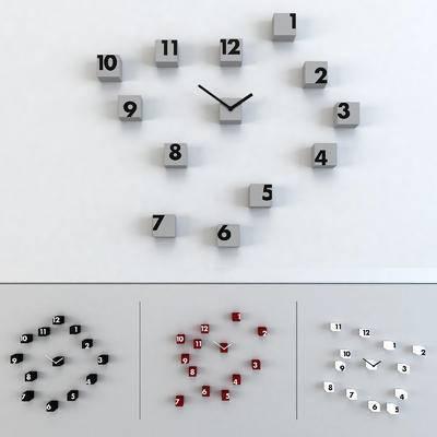 现代方块时钟, 钟表墙饰