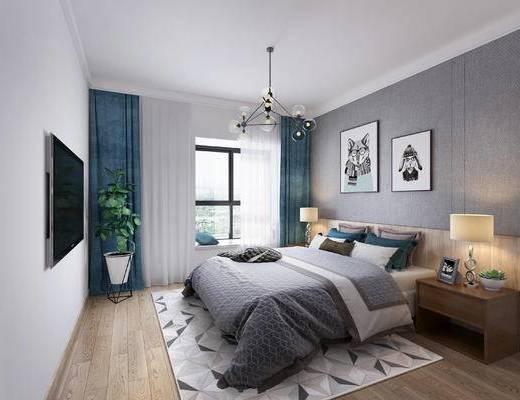 北欧, 卧室, 家装