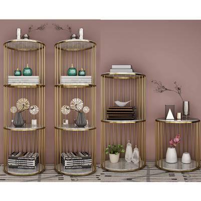 装饰柜架, 置物架, 摆件组合