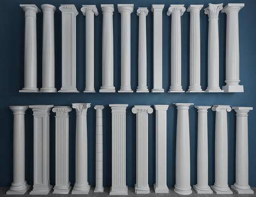罗马柱, 柱子, 欧式, 简欧