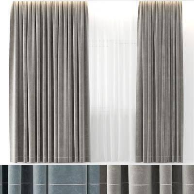 窗帘, 现代窗帘, 纯色窗帘, 简约窗帘, 窗纱, 简约现代, 现代
