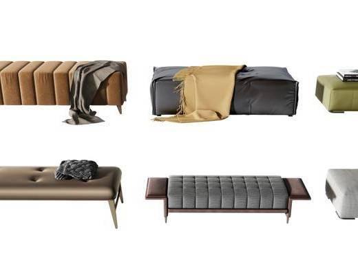 沙發腳踏, 沙發凳, 凳子