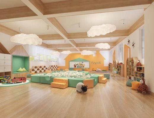 现代幼儿园, 幼儿园, 活动室