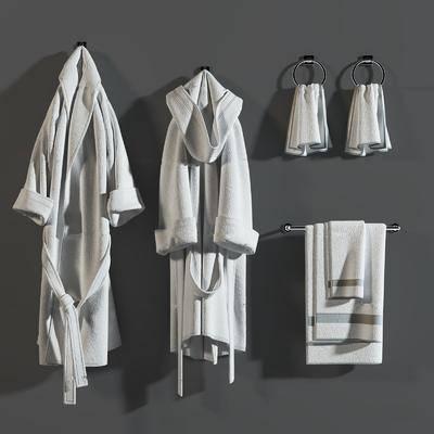 睡袍, 服饰, 浴巾, 毛巾