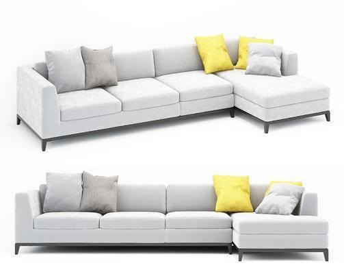 现代, 多人沙发, 沙发, 转角沙发, 布艺沙发