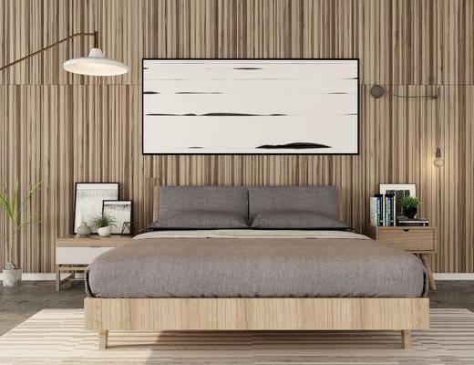 床具组合, 摆件组合, 北欧