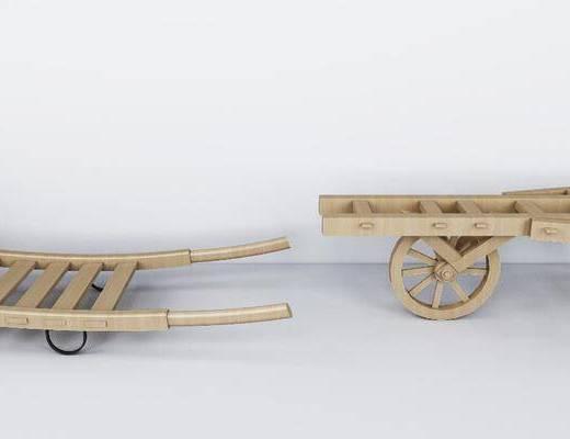 乡村农具, 推车, 独轮车, 现代