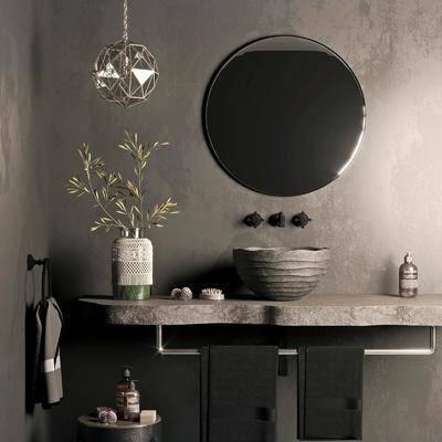 现代, 洗手盆, 洗手台, 组合